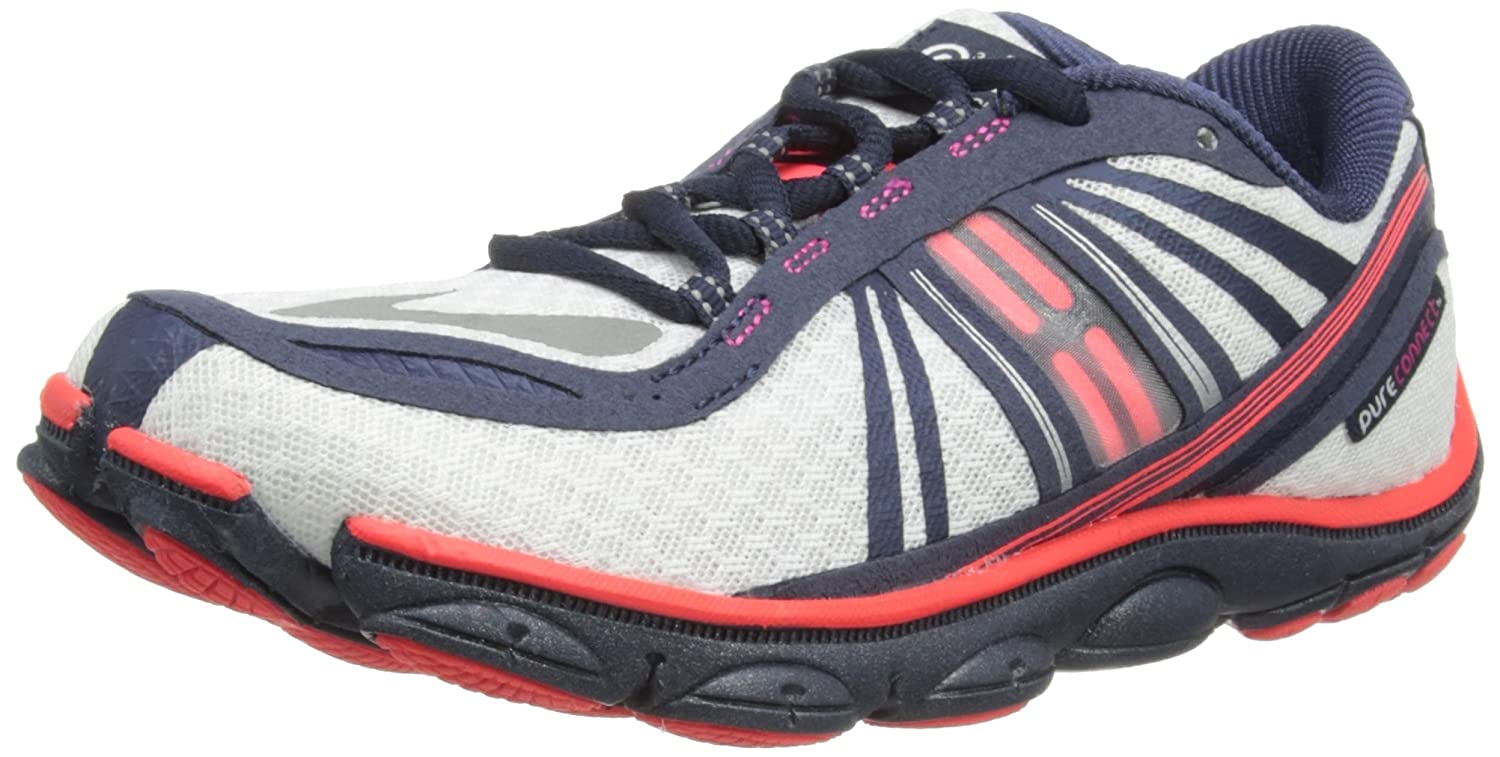 Brooks Women's PureConnect 3 Lightweight Running Shoes, Color: White/Poppy/Midnight, Size: 10.5