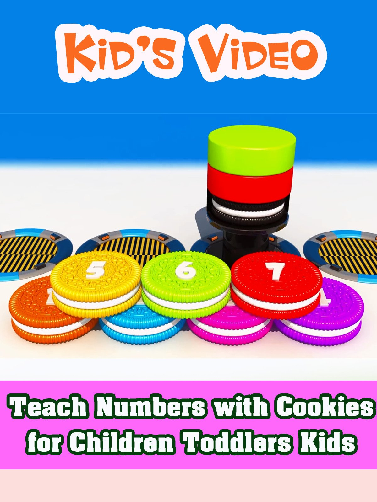 Teach Numbers with Cookies for Children Toddlers Kids