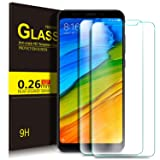 Xiaomi Redmi 5 Plus Screen Protector, KuGi 9H Hardness HD clear Bubble Free Installation High Responsivity Tempered Glass Screen Protector for Xiaomi Redmi 5 Plus phone.(Clear)[2Pack]