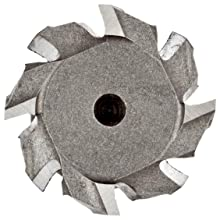 "Niagara Cutter TS109 T-Slot Shank Type Cutter, High Speed Steel, Uncoated (Bright), Weldon Shank, 10 Helix Angle, 1"" Cutter Diameter, 8 Tooth, 1/2"" Width"