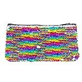Style.Labs Magic Mini Sequin Pouch, Rainbow/Silver (76584)