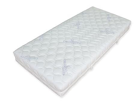 GoodDreams GD480-1002103 orthopädische 7-Zonen Tonnentaschenfederkern-Matratze 480 Organic Cotton, 100 x 210 cm, H3