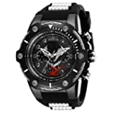Invicta Men's 'Marvel' Quartz Stainless Steel and Silicone Watch, Color:Two Tone (Model: 29055)