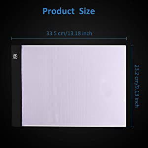 Diamond Painting Light Board A4 Portable LED Light Box Pad with 20 Pieces Diamond Painting Tools for Art Craft 5D DIY Diamond Painting Drawing Accessories for Adults or Kids (Color: 20pcs with LED board)