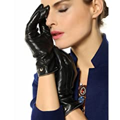 Touch Screen Italian Nappa Leather Gloves Cashmere Lining