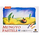 Mungyo Non Toxic Square Chalk, Soft Pastel, 64 Pack, Assorted Colors (B441R078-7003A) (Color: Limited edition, Tamaño: Limited edition)