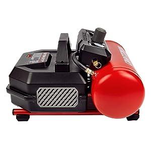 Craftsman Air Compressor, Portable Oil-Free 1.5 Gallon Small Air Compressor Max 135 PSI Pressure 3/4 Horse Power 1.5 CFM@90PSI, Red- CMXECXA0200141A (Color: Red, Tamaño: 1.5Gallon)