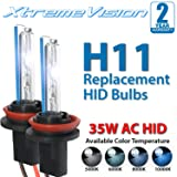 XtremeVision AC HID Xenon Replacement Bulbs - H11 8000K - Medium Blue (1 Pair) - 2 Year Warranty (Color: 8000K - Medium Blue, Tamaño: H11 (H8/H9/H11B))