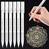 White Gold Silver Gel Pens, PANDAFLY 3 Colors Gel Ink Pen Set, Archival Ink Fine Tip Sketching Pens For Illustration Design, Art Drawing, Black Paper Drawing, Adult Coloring Book, Pack of 6 (Color: 6Pcs Gel Pens)