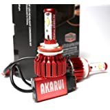 Akarui LED Headlight Bulbs Conversion Kit -Single Beam - CREE XHP70 LED - 10.400 lumens - 6K Cool White - 2-Year Warranty - Pair - 9006 (Tamaño: 9006 -Single Beam)