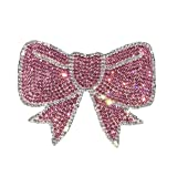Ling's boutique Various Patterns of Crystal Car Stickers,Decorate Cars Bumper Window Laptops Luggage Rhinestone Sticker, Pink&White (Bow) (Color: Bow)