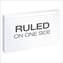 """Oxford Ruled Index Cards, 5"""" x 8"""", White, 100 per pack (51)"""