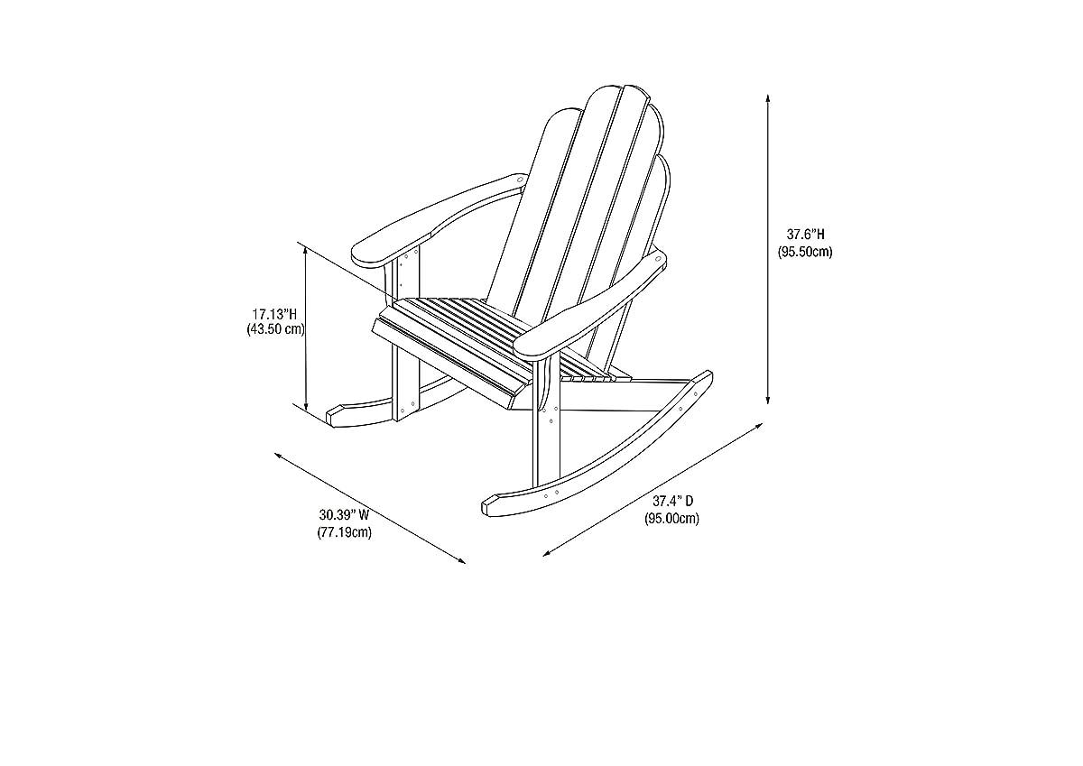 Linon Woodstock Rocking Chair, Teak