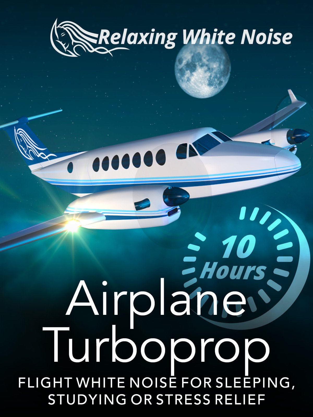 Airplane Turboprop Flight White Noise for Sleeping or Studying