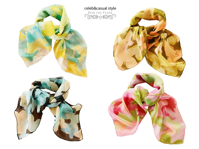RISEONFLEEK 2016 春 夏 レディース スカーフ 花柄 ストール 薄 UV 対策