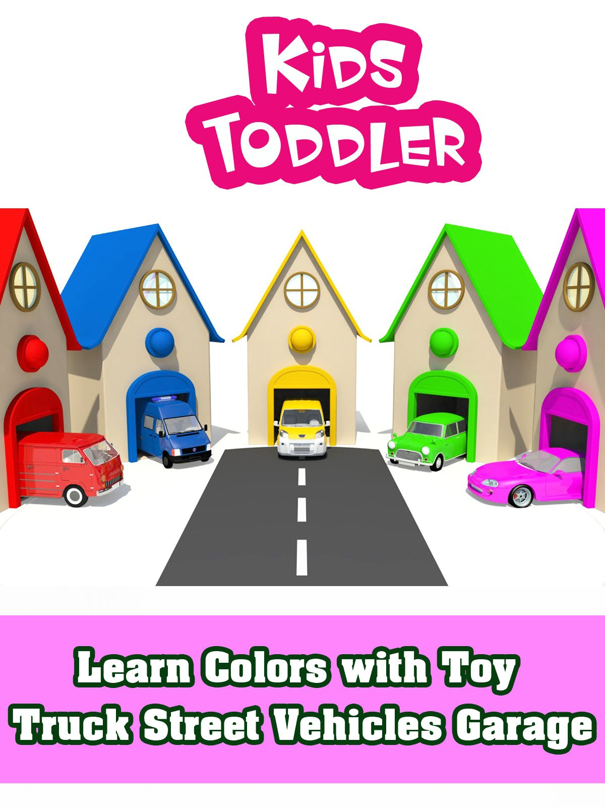 Learn Colors with Toy Truck Street Vehicles Garage