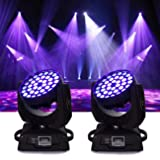 Ridgeyard 36x10W 4 Color RGBW LED Moving Head Beam Stage Light Spotlight Lamp Touch Screen 16CH DMX512 Disco DJ Club Wedding Birthday Christmas Party ( 2pcs ) (Color: 2 PCS)