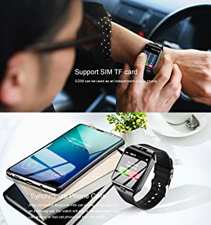 Smart Watch - Aeifond DZ09 Bluetooth Smartwatch Touch Screen Wrist Watch Sports Fitness Tracker with Camera SIM SD Card Slot Pedometer Compatible iPhone iOS Samsung LG Android Men Women Kids (Black) (Color: Black)
