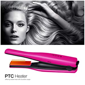 YITRUST Mini Cordless Hair Straightener Ceramic 1/2 inch Flat Iron Travel Portable USB Charging for Men Women