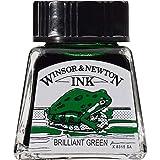 Winsor & Newton Drawing Ink Bottle, 14ml, Brilliant Green (Color: Brilliant Green, Tamaño: 14-ml Bottle)