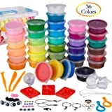 PolyClay Air Dry Clay 36 Colors DIY Modeling Clay Kit, Ultra-light with Accessories, Tools and Tutorials, Eco-Friendly Creative Art DIY Crafts, Non-toxic. FDA APPROVED. Best Gifts for Kids (Color: Variety of Colors, Tamaño: 36 colors 19 oz)