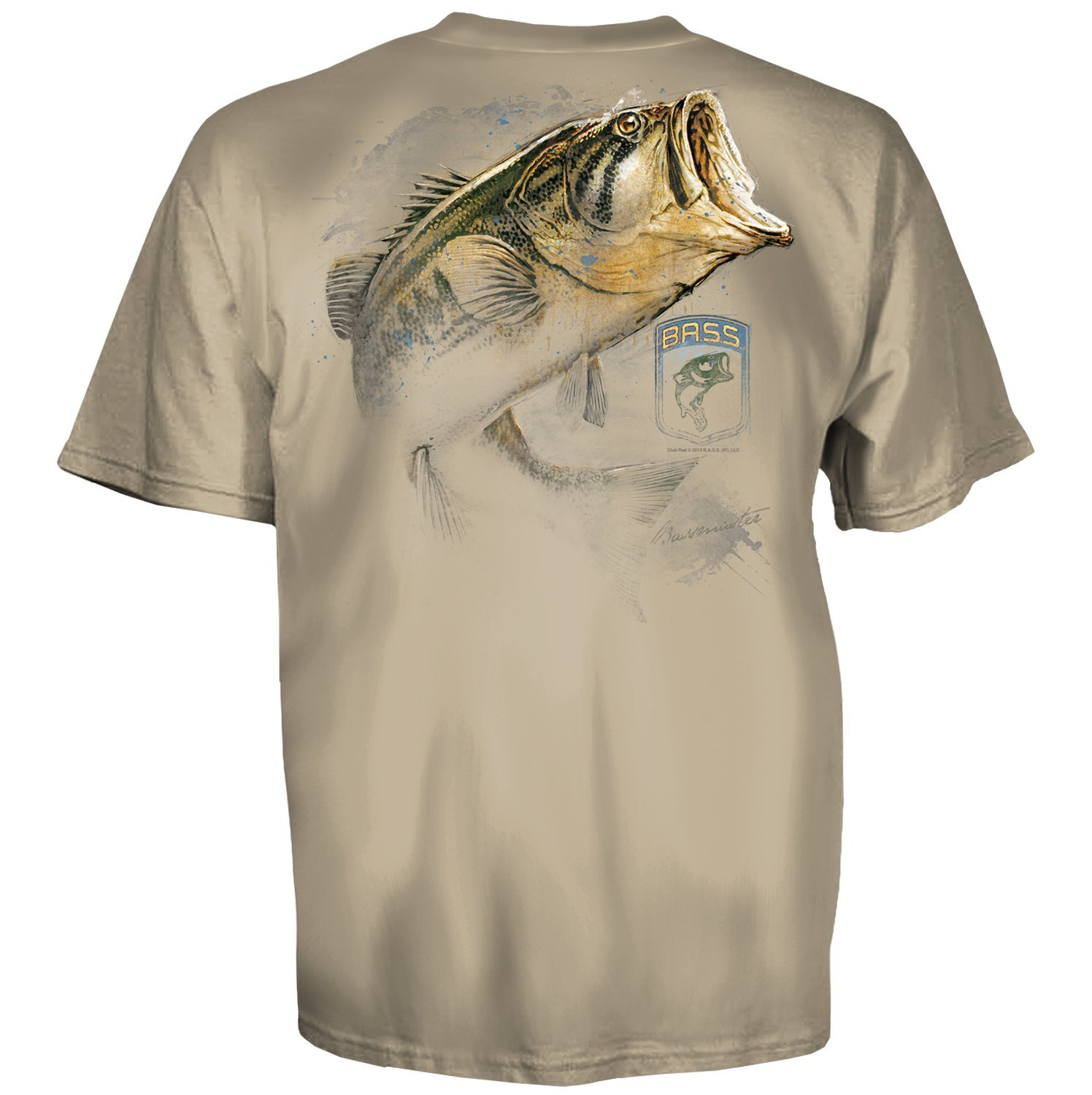 Bassmaster bass fishing pencil drawing sand short sleeve for Bass fishing shirt