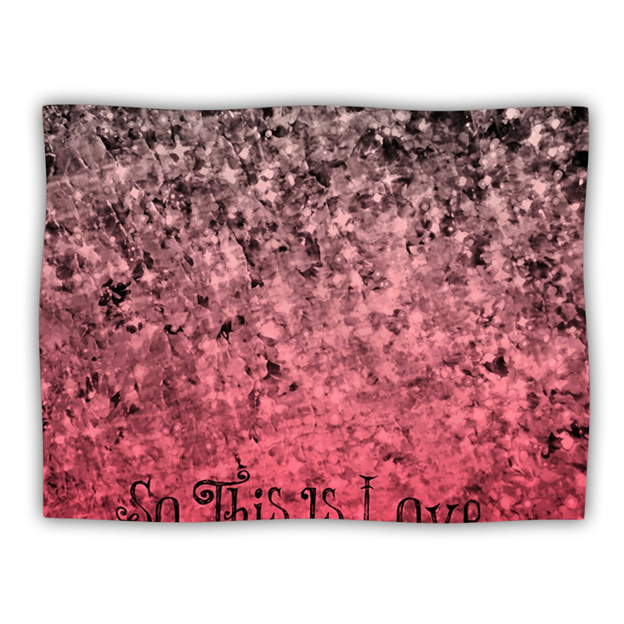 Kess InHouse Ebi Emporium 'So This is Love' Pink Glitter Dog Blanket, 40 by 30-Inch kess inhouse julie hamilton snowflake sky blue woven sham 40 by 20 inch