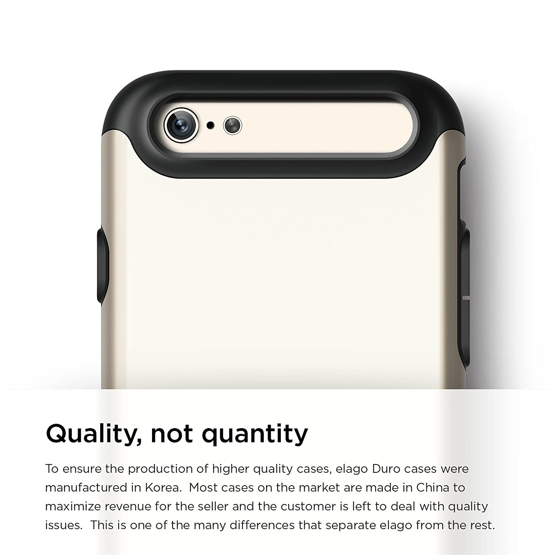 Elago S6 Duro Case for iPhone 6 - Matt Black + Champagne Gold