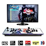 [2177 HD Retro Games] 3D Pandora's Key 7 Box Arcade Game Console 1920x1080 Full HD 2 Players Arcade Machine Support TF Card to Expand More Games for PC / Laptop / TV / PS Controller (King of Fighters) (Color: The King of Fighters)