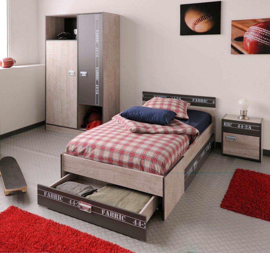 Kinderzimmer Jugendzimmer Esche grau Dekoprint 4-teilig Fabrio jetzt kaufen