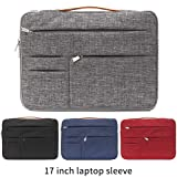 "KINGLONG 17 inch Laptop Sleeve 360° Protective Laptop Sponge Protection Hand Bag Compatible with 17"" -17.3"" Dell HP Acer Asus Lenovo Notebook/Lenovo/MSI GS73VR Pro/Travel Briefcase Bag (Grey) (Color: Grey)"