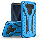 LG V30 Case - Zizo [Static Series] Shockproof [Military Grade Drop Tested] w/ Kickstand [LG V30 Heavy Duty Case] Impact Resistant, Blue/Black (Color: Blue/Black)