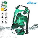 Deer mum Glossy Premium Waterproof Dry Bags Keeping Top Roll Sack 10L/20L for Floating Boating Kayaking Fishing Rafting Swimming Camping Snowboarding Hiking Beach Water Sports Canoeing Sailing Cycling (Color: pattern2, Tamaño: 10L)