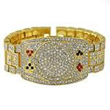 Poker Texas Hold em Fan Championship Style Bracelet Gold