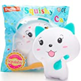 Squishies - Cat Squishy Toys - Newest 2019 - Jumbo Squishies Slow Rising - Sensory Fidget Toys - Super Soft and Slow - Kawaii Squishies - Animal Stress Toys - Fruit Scent Toy for Kids and Adults (Color: White Squishy, Tamaño: Dullko Cat)