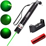 Green Light Pointer, Loyalfire Tactical High Power Pen Visible Beam with Adjustable Focus for Hunting Hiking Outdoor Projector Travel Flashlight LED Interactive Baton
