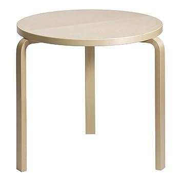Artek 90B - Table placage de bouleau/piètement bouleau vernissé
