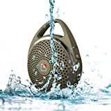 Whitelabel SoundDew Wireless Water Resistant Shower Speaker Waterproof Bluetooth Speaker with Microphone (Army Green)