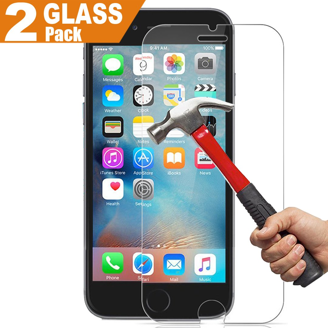 "(2 Pack) (Lifetime Warranty) iPhone 6 Plus / 6S Plus Glass Screen Protector , InaRock 0.26mm 9H Tempered Glass Screen Protector for iPhone 6 Plus / 6S Plus 5.5"" (3D Touch Compatible )"
