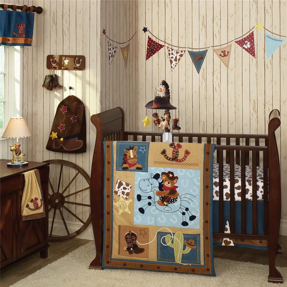 Lambs and ivy giddy up cowboy baby bedding baby bedding for Cowboy themed bedroom ideas