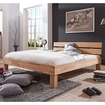 Holzbett Fancy aus Kernbuche Breite 145 cm Liegefläche 140x200 Pharao24