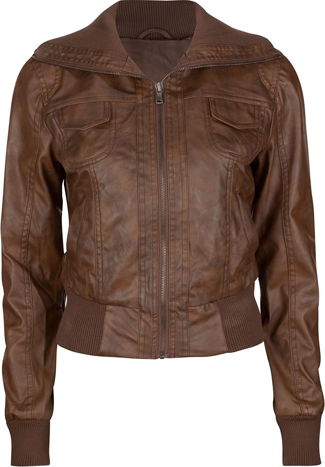 Brown Leather Jackets For Girls | Wallpaper HD