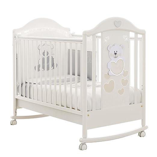 lettino baby baby bianco pali