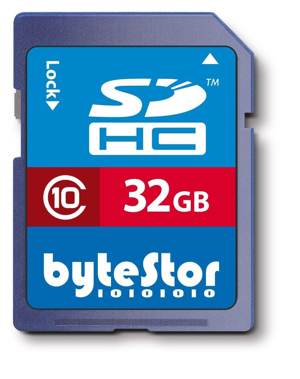 Bytestor BYTEZSDH32G10 - Tarjeta de memoria SecureDigital de 32 GB (clase 10), azul  Informática Comentarios de clientes y más información