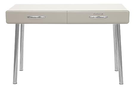 Tenzo 4950-083 COBRA Designer Bureau 2 tiroirs Panneaux de particules/MDF Beige 120 x 50 x 76,5 cm