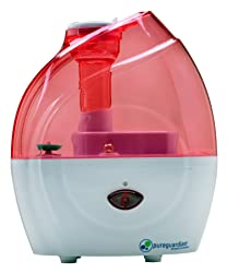 PureGuardian H900P 10-Hour Nursery Cool Mist Humidifier, Pink