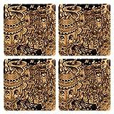 Posterboy Alien Ponchishey Boishakh MDF Coaster Set, Set Of 4, 101mm, Multicolor