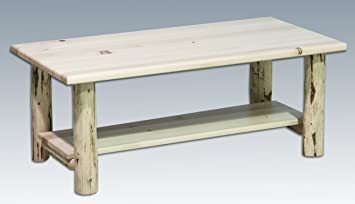 Montana Woodworks Coffee Table with Shelf Unfinished