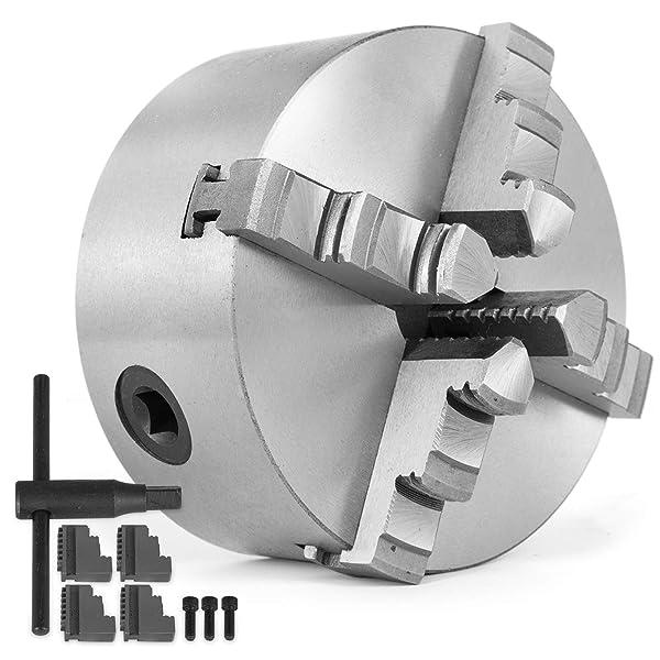Mophorn 5 Inch 125 mm Lathe Chuck Self-centering for Lathe Machine 4 Jaw Lathe Chuck (12-125mm) (Tamaño: 12-125mm)