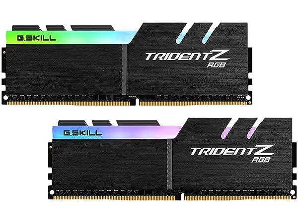G.SKILL 16GB (2 x 8GB) TridentZ RGB Series DDR4 PC4-32000 4000MHz Desktop Memory Model F4-4000C17D-16GTZR (Tamaño: 16 Gb)